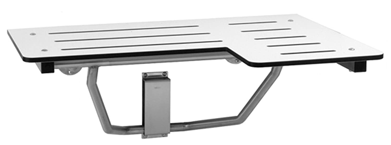 Bobrick B-5181 Reversible Folding Shower Seat, Ivory