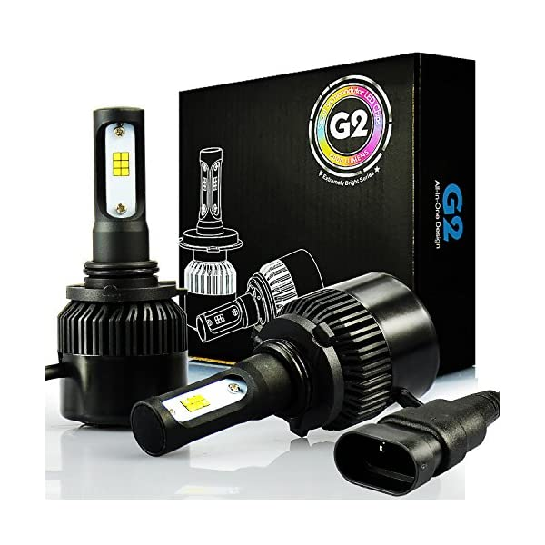 JDM ASTAR G2 8000 Lumens Extremely Bright CSP Chips 9006 All In One LED Headlight Bulbs Conversion Kit Xenon White