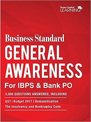 Buy Business Standard General Awareness for IBPS & Bank PO: 3000 GK