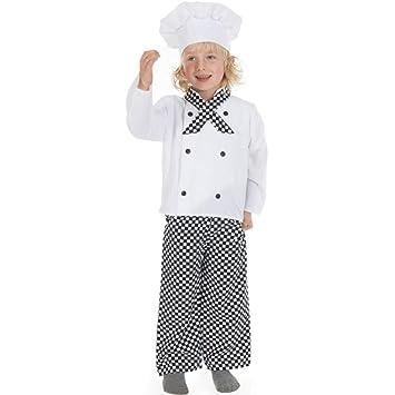 Disfraz infantil de cocinero (3-5 años): Amazon.es: Juguetes ...