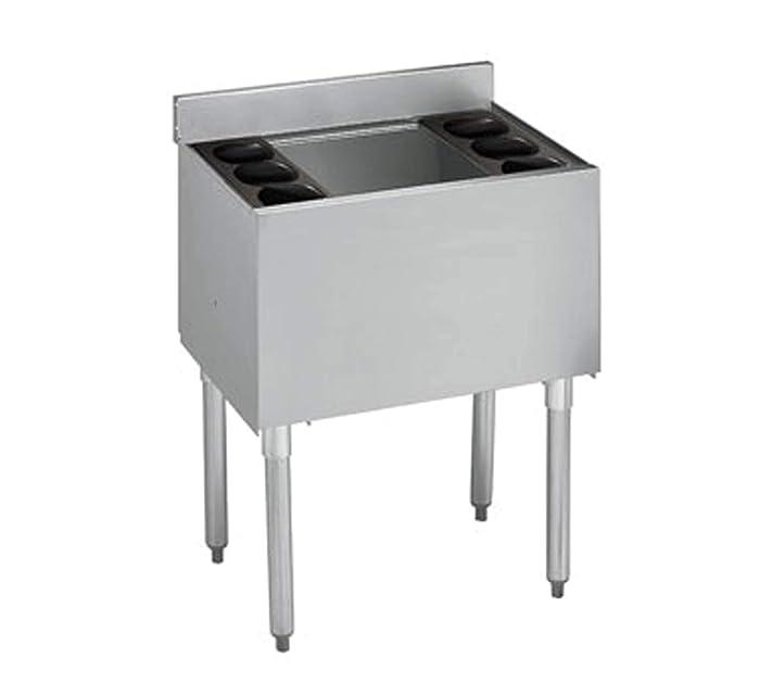"""Krowne Metal 18-24 Ice Bin - Stainless Steel, 24""""W, 18-1/2""""D, 80 lb. Ice Capacity. Standard Ice Bin"""