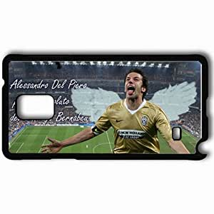 Personalized Samsung Note 4 Cell phone Case/Cover Skin Alex Del Piero Padrone Del Bernabeu UEFA Champions League 0809 Serie A 0809 Italian Football Federation Juventus Real Madrid Football Black