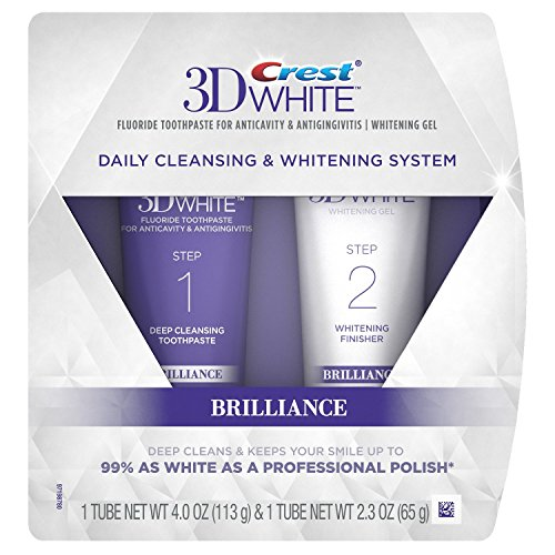 (Crest 3D White Brilliance Daily Cleansing Toothpaste and Whitening Gel System)