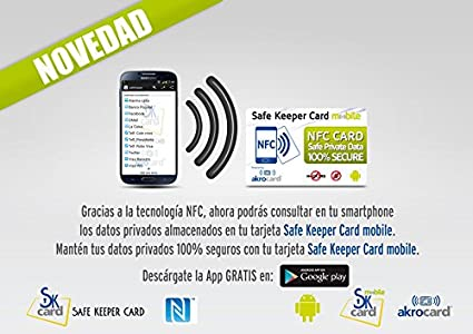 SafeKeeper Card mobile Tarjeta NFC Password Manager y Control ...
