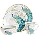 Great Peacock Garden 16 Piece Dinnerware Set