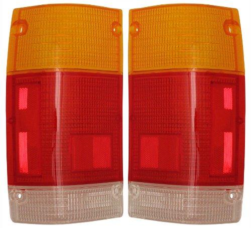1986-1993 Mazda Pickup Truck B2000 B2200 B2600 Taillight Taillamp Rear Brake Tail Light Lamp LENS ONLY Pair Set: Left Driver And Right Passenger Side (1986 86 1987 87 1988 88 1989 89 1990 90 1991 91 1992 92 1993 93)