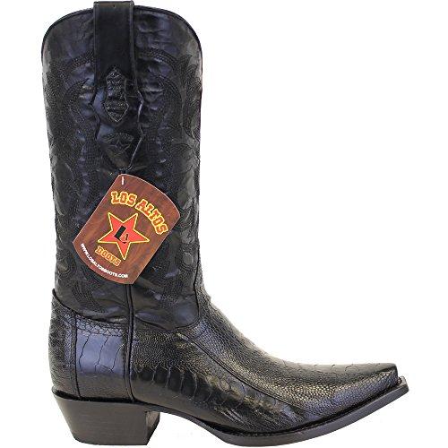 Genuine OSTRICH LEG BROWN SNIP Toe Los Altos Men's Western Cowboy Boot 940507