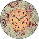Roger Lascelles Red Wine Wall Clock, 14.2-Inch