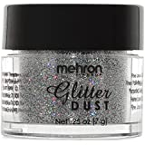 Mehron Makeup GlitterDust Face & Body Paint, HOLOGRAPHIC SILVER (0.25 oz carded)