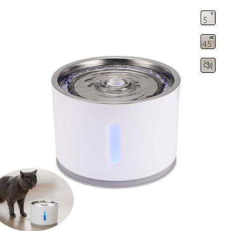 DZENJ Fuente para Mascotas, 2,4 L, Fuente automática para ...