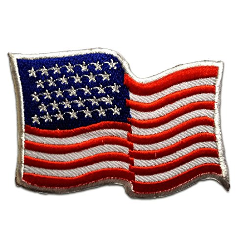 Amérique Drapeau USA Flag Patch '' 7,9 x 5,5 cm '' - Écusson brodé Ecussons Imprimés Ecussons Thermocollants Broderie Sur Vetement Ecusson Drapeaux
