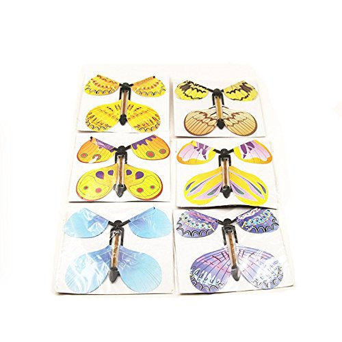 Gold Happy 12pcs magic flying butterfly change from empty hands freedom butterfly close up magic tricks magia kids toy funny gadgets 83008 by Gold Happy (Image #1)