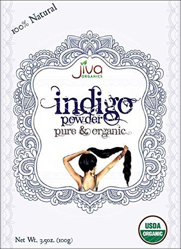 0% Pure Indigo Powder 100 Gram - Ecocert Certified (Henna Leaf Powder)