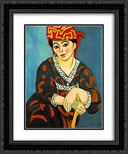 Henri Matisse 2x Matted 20x24 Black Ornate Framed Art Print 'The Red Madras Headdress ' - Dress Framed Print