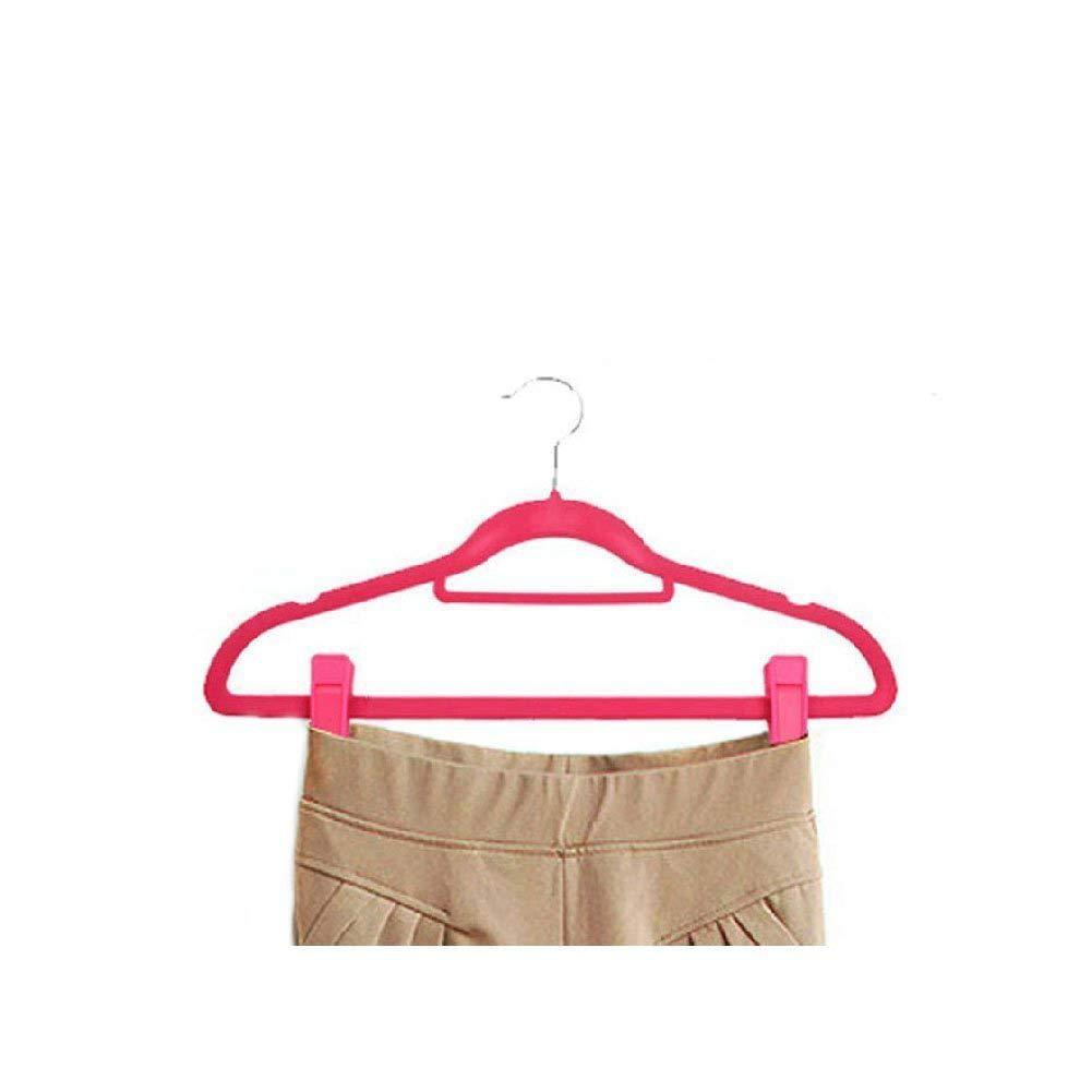Pink 30 Pcs Slim-line Finger Clips Set for Clothes Hanger or Velvet Hanger KISEER Plastic Baby Hanger Clips