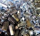 (250) Hex Rod Coupling Nuts 5/16-18 X 7/8 Threaded Rod Connectors Zinc