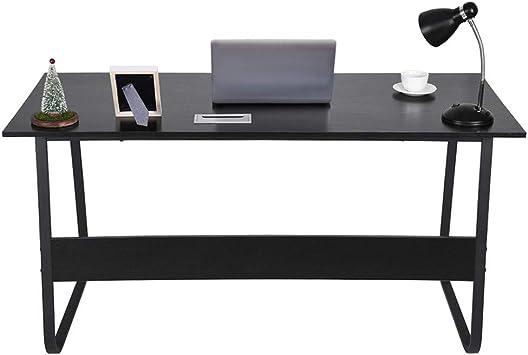 Modern Computer Table Study Desk PC Laptop Workstation Home Office Black//White
