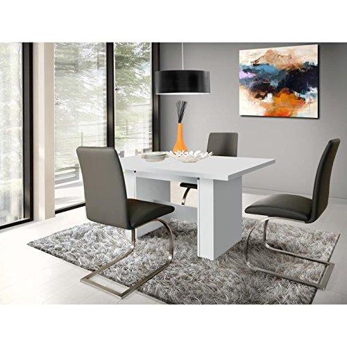 Finlandek Dining Table Extendible Kova 140 273x75 Cm Matte White