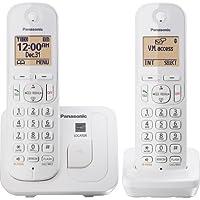Panasonic - KX-TGC212W DECT 6.0 Expandable Cordless Phone System - White