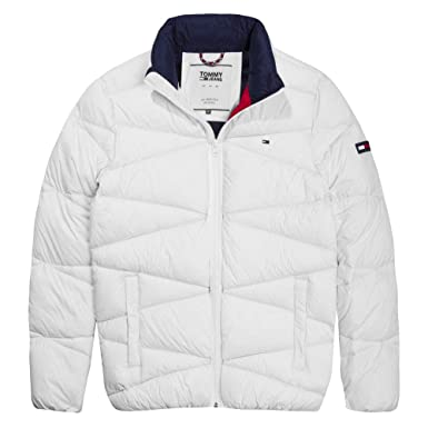 a3c046390013 Tommy Hilfiger Light Down Jacke Doudoune Homme Blanc Taille XL ...
