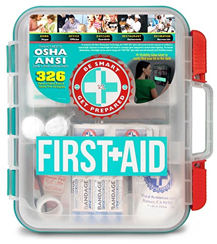 First Aid Kit Hard Teal Case 326 Pieces Exceeds OSHA and ANSI Guidelines (Best Job Sites For College Grads)