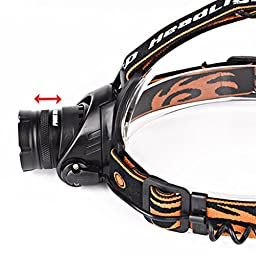 Binmer(TM) 5000LM XM-L T6 LED Headlamp Head Light Torch Zoomable 2 X 18650 Battery + Charger