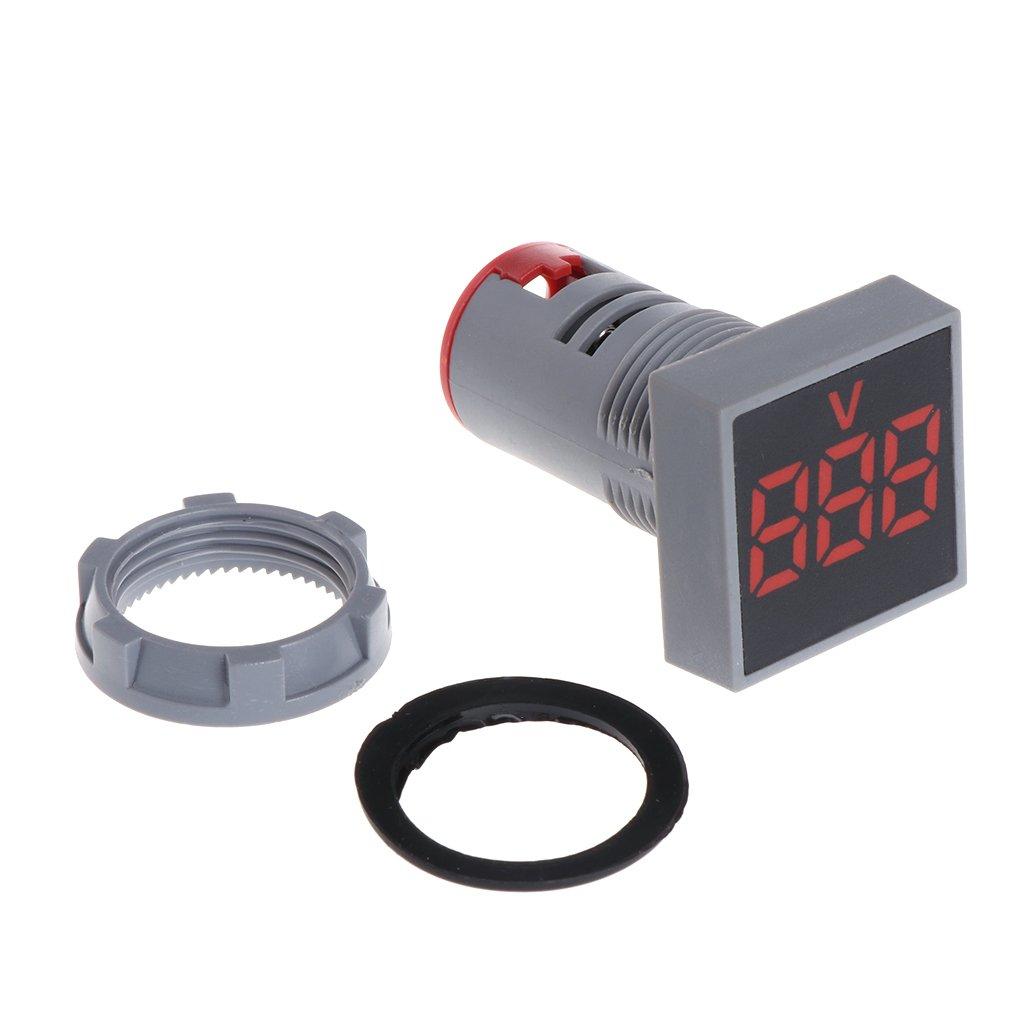 Azul fxco Volt/ímetro rectangular pantalla Pizarra para medidor de voltaje digital 22/mm AC 12/ /500/V