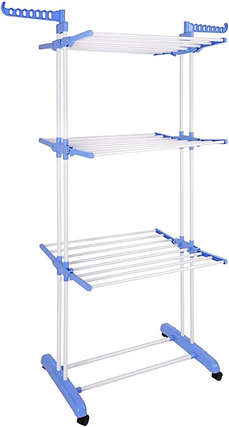 Amazon Com New 66 Laundry Clothes Storage Drying Rack Portable Folding Dryer Hanger Heavy Duty Kitchen Dining
