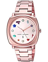 Marc Jacobs Womens Mandy Quartz Stainless Steel Casual Watch, Color:Rose Gold-Toned (Model: MJ3550)