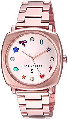 Marc Jacobs Women's Mandy Japanese-Quartz Watch with Stainless-Steel Strap, Rose Gold, 18 (Model: MJ3550