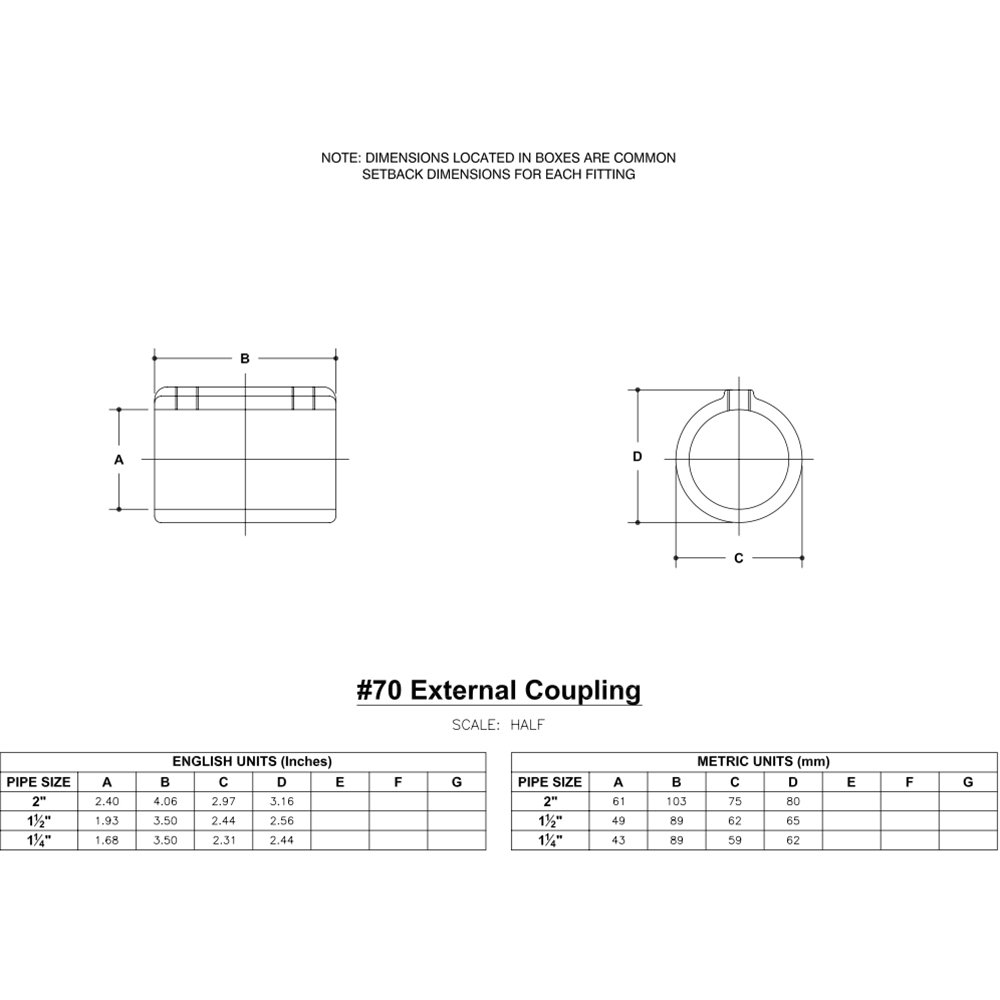 Structural Fitting, 3-1/2 in. L