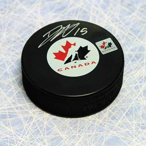Dany Heatley Team Canada Autographed Hockey Puck - Signed Hockey Pucks