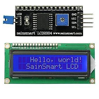 SainSmart IIC/I2C/TWI 1602 Serial LCD Module Display for Arduino UNO MEGA  R3Blue on White