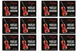 Vizcaya 2 Full Sets Violin String (G-D-A-E , G-D-A-E) for 4/4 - 3/4 Size Beginner,Student Violin Replacement ,Extra 4 stringuFF08E1,A2,E1,A2)