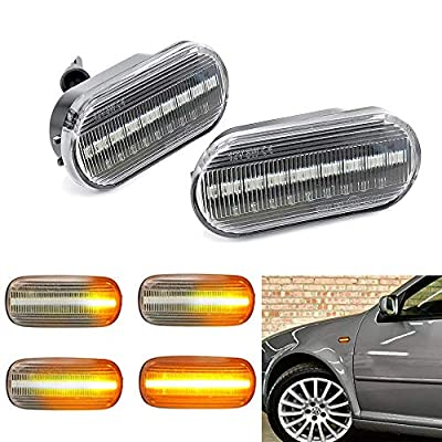 Led Dynamic Side Marker Turn Signal Light Sequential Blinker Light For Volkswagen VW Bora Golf 3 4 Lupo Passat 3BG Polo Sharan Vento 1994-2005 2 pack: Automotive