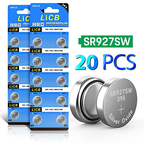 LiCB 20 Pack SR927SW 395 399 AG7 Battery 1.5V Watch Batteries ()