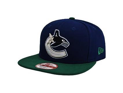 New Era 9Fifty NHL Vancouver Canucks 2 Tone Royal Blue Green Snapback Cap  (Small 062ce99e0e38