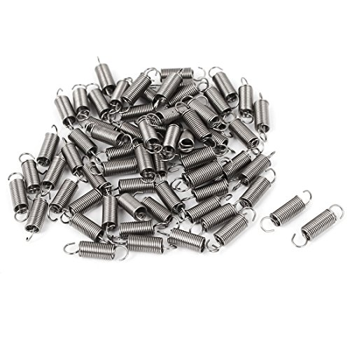 - uxcell 0.4mmx3x12mm 304 Stainless Steel Dual Hook Small Tension Spring 66pcs