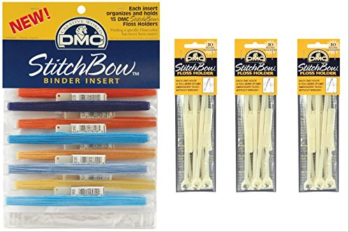 Dmc Stitchbow Floss Holder - Floss Holder and Binder Insert Bundle : (Total of 30 Floss Holders and Binder Insert that holds 30 floss holders)