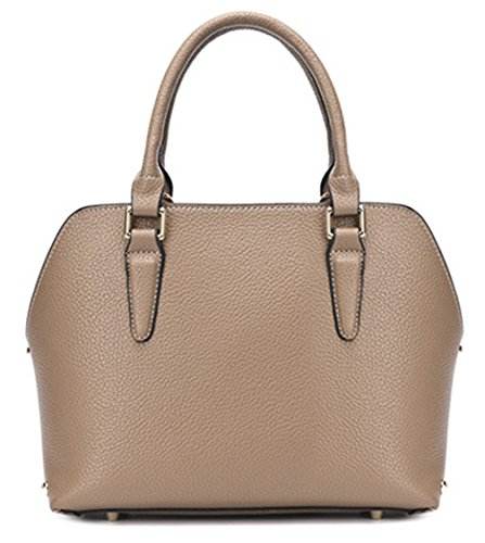 Classic tracolla Tote Beach Summer Sea Straw Keshi PU Cool Brown Borsa 8xzgEa