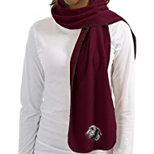 Cherrybrook Maroon Dog Breed Embroidered Lightweight Scarves (All Breeds)