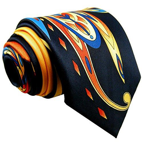Shlax  Wing Mens Neckties Ties Printed Geometric Multicolor Silk New