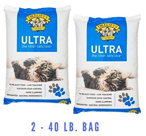 Precious Cat Ultra Premium Clumping Cat Litter, 40 pound bag (2 - 40 lb bag)