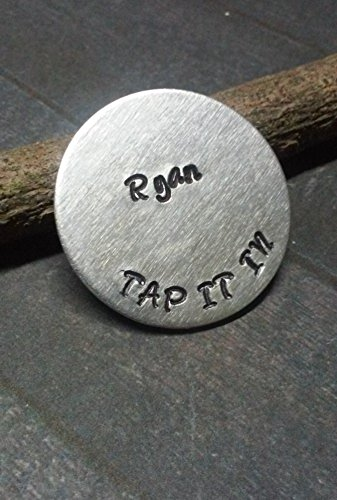 Hand Stamped Personalized Golf Ball Marker