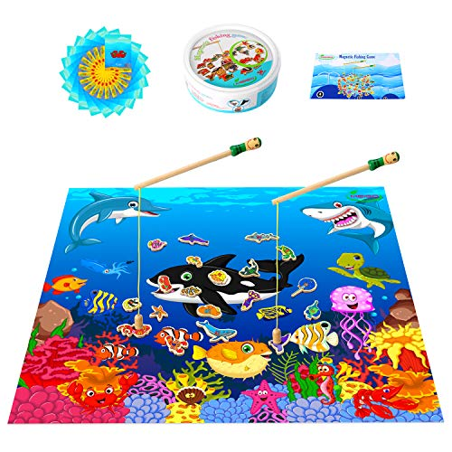 MEIGO Magnetic Wooden Fishing Game
