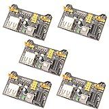 C.J. SHOP 10PCS MB102 Breadboard Power Supply Module 3.3V 5V For Arduino Solderless Breadboard
