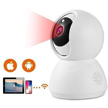 IP Kamera HD 1080p WLAN Überwachungskamera IP-Kamera Schwenkbar mit Bewegungserkennung, Nachtsich und 2 Wege Audio, Unterstüt