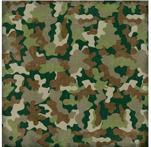 (Textured Camouflage Design Scrapbook Paper - 12
