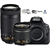 Nikon D5600 DX-format Digital SLR w/AF-P DX NIKKOR 18-55mm f/3.5-5.6G VR & AF-P DX NIKKOR 70-300mm f/4.5-6.3G ED - (Certified Refurbished)