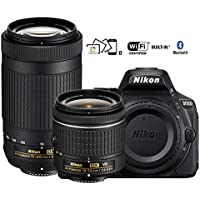 Nikon D5600 DX-format Digital SLR w/ AF-P DX NIKKOR 18-55mm f/3.5-5.6G VR & AF-P DX NIKKOR 70-300mm f/4.5-6.3G ED - (Certified Refurbished)